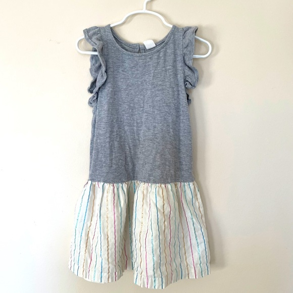 Baby Gap ruffle sleeved tshirt dress 5T